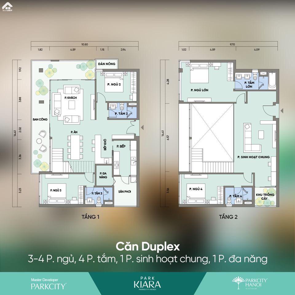 Thiet Ke Chung Cu Park City 3 Phong Ngu Can Duplex