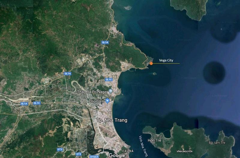 Vị trí dự án Vega City Nha Trang