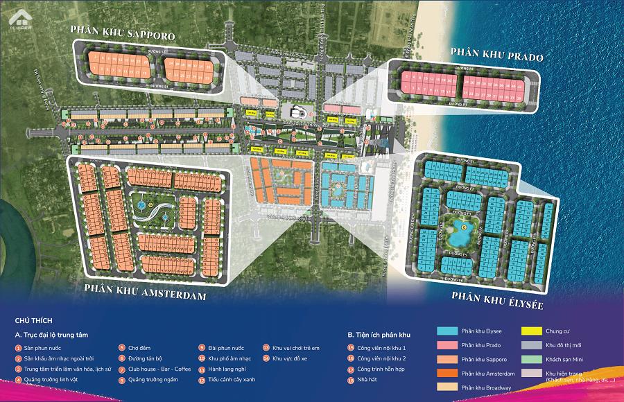 Sơ đồ dự án Sun Grand Boulevard Sầm Sơn