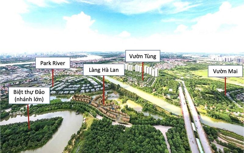 Biet Thu Lang Ha Lan Ecopark Vi Tri