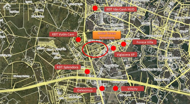Khu Do Thi Vuon Cam Google Map