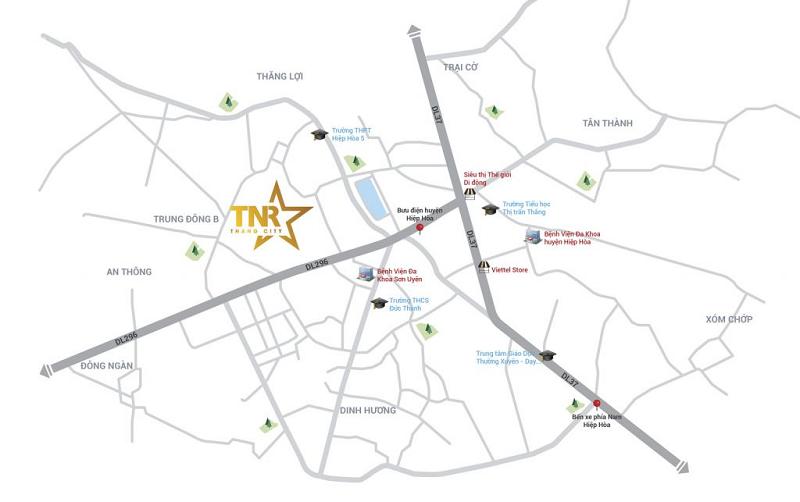 TNR Stars Thang City Vi Tri