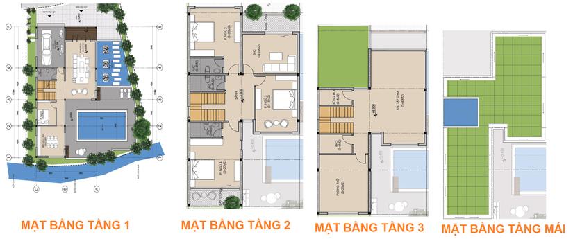 Thiết kế biệt thự đơn lập Phú Cát City