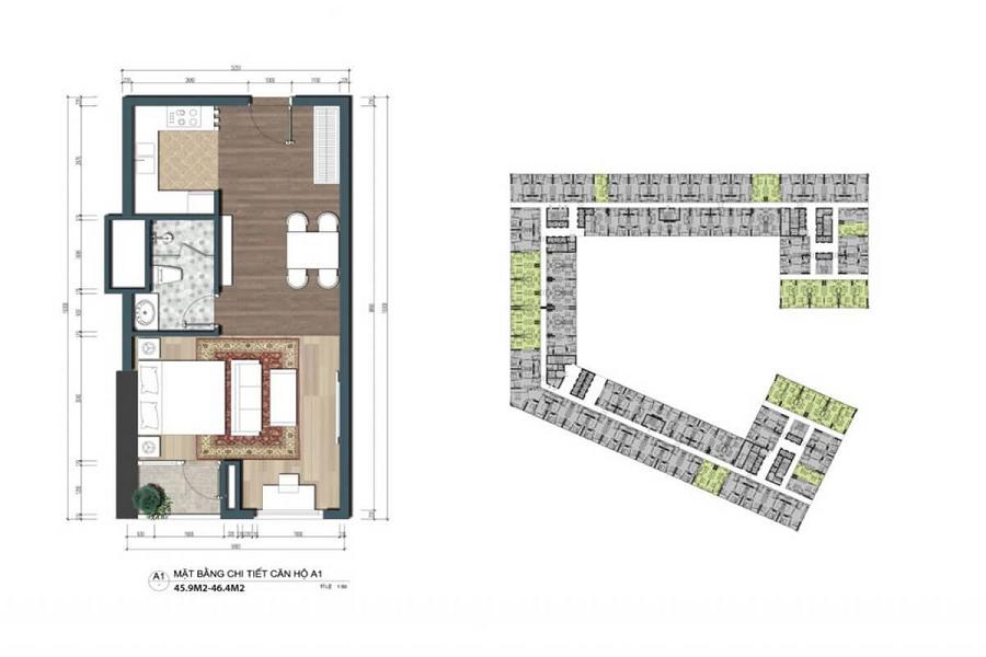 Thiết kế The Lotus Center Officetel