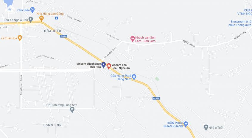 Vị trí Vincom Thái Hòa Nghệ AN