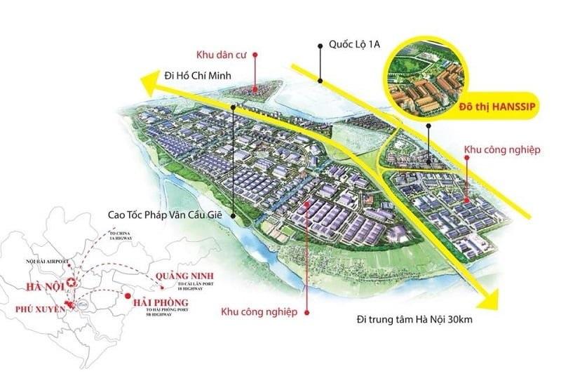 Vị Trí Đắc Địa Dự Án Inoha City Phú Xuyên